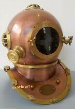 "Vintage Copper Finish Maritime Divers Diving Helmet Handmade Reproduction 17"""