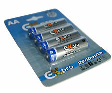 Ex-Pro® Ultra High Capacity AA rechargeable 2900mAh Batteries for Digital Camera