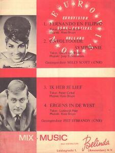 MILLY SCOTT (FERNANDO) + PIET SYBRANDY (EUROVISION BLADMUZIEK1966 BELINDA)