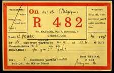 CARD  CARTE  QSL  radio amateur    BELGIQUE     1928  ( 133 )