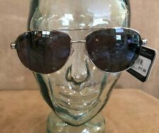 Foster Grant max block sunglasses brown silver metal unisex lenses men