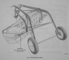 Ih International Harvester No 15 Side Delivery Wheel Driven Pull Hay Rake Manual