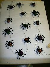 5' Multi-color Spider Garland - Hand-painted, Glittered Styro Spiders