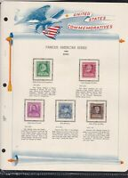 united states commemoratives famous american poets 1940 stamps page ref 18260