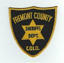 VINTAGE FREMONT COUNTY, COLORADO SHERIFF'S DEPT. (CHEESE CLOTH BACK) patch