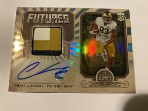 2020 Legacy Chase Claypool Futures Rookie Patch Auto Silver /399 RC Steelers🔥🔥