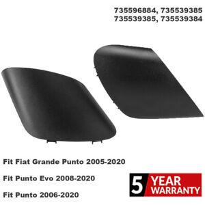 2Pcs FOR Fiat Grande Punto 2005-2020 Door Rearview Mirror Cover Replace Plastic