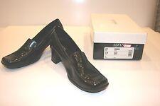 Alfani Step N Flex Black Leather Simon Women's Shoes Heels 8.5M FREE SHIPPING!