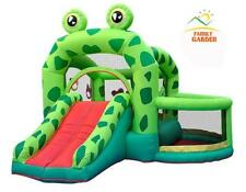 Castle Pool Slider Inflatable Frog Bounce House Bouncer Moonwalk Air Blower New