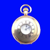 Harry Gold Ealing Boxer 14K Gold 7 Jewel Swiss Half Hunter Pocket Watch 1929