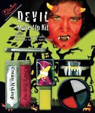 Teufel MakeUp Schminkset Dämon Halloween Schminke