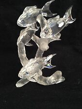 SWAROVSKI Crystal. BANCO di PESCI.(SCHOOL of FISH).   RARO. Fuori Produzione