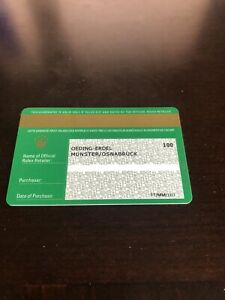 Rolex Guarantee Card With Dealer Stamp