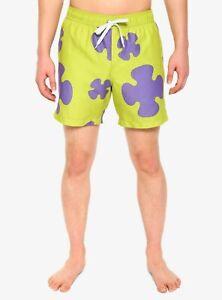 new SpongeBob SquarePants Patrick cosplay swim trunks shorts mens M MSRP $29.90