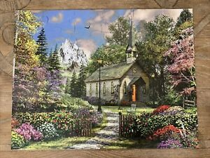 Springbok Puzzles To Remember Mountain View Chapel 36 Pieces Alzheimer Dementia