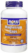 Now Foods Magnesium Caps 400mg x180caps - BEST SELLER!