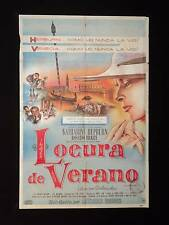 SUMMERTIME (1955) * KATHARINE HEPBURN * BRAZZI * ARGENTINE 1sh MOVIE POSTER