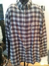 Great North West Mens Green Blue Flannel Long Sleeve Shirt 3xl Tall New (Lb2)