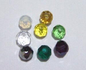 70pz perline in vetro cristallo forma cipolla 6x4mm bijoux