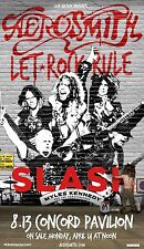 "Aerosmith / Slash ""Let Rock Rule Tour"" 2015 Concord, California Concert Poster"