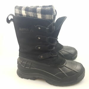 Women's KAMIK 'Calgary' Sz 7 US Boots Water Proof Black Lethr | 3+ Extra 10% Off