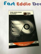 PRO SET NHL HOCKEY 1990 PHILADELPHIA FLYERS TEAM FACTS CARD 579 EXCELLENT