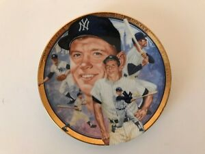 Limited Edition Mickey Mantle Plate Hamilton Collection 1992