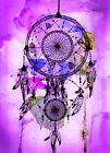 "Beautiful Dreamcatcher CANVAS ART PRINT spiritual Native purple poster 16""X12"""