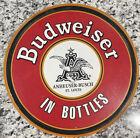 "BUDWEISER BEER ROUND 11.75"" Metal Sign - BWB"