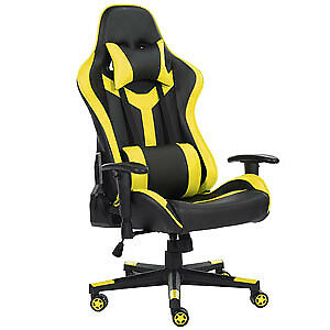 Computer Gaming Chair High Back Swivel Ergonomic Racing Leather Office Yellow