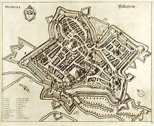 HILDESHEIM - VOGELSCHAU - Caspar Merian - Kupferstich 1653
