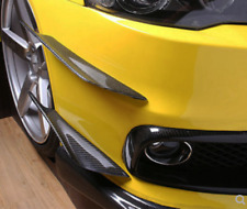 4Pcs Carbon Fiber Front Bumper Lip Splitter Fins Body Spoiler Canards Refit Trim