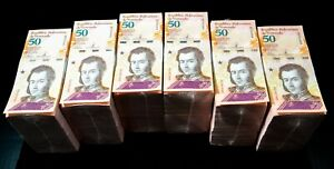 2018 Venezuela $50 Bolivares UNC 6 Bricks 6000 Pcs New Uncirculated SKU324