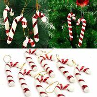 6Pcs Chrismas Tree Candy Cane Hanging Ornament Decoration Christmas Party Decor
