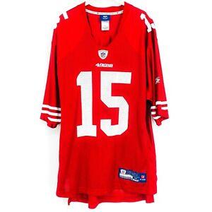 Reebok Men Official On Field Michael Crabtree #15 NFL Jersey 49ers Red Medium