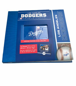 MLB Los Angeles Dodgers Scrapbook 12x12 16p postbound photo baseball stickers