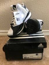 Adidas Mens Size 4.5 D Rose 773 III Black White Basketball Training Shoes