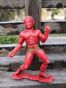 VTG 1980s RARE SUPER HERO ROBIN - NO BATMAN MEXICAN BOOTLEG HARD PLASTIC FIGURE