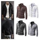 Men's Slim Winter Coat Jacket Outerwear Overcoat Casual Tops Warm Blazer Zippe