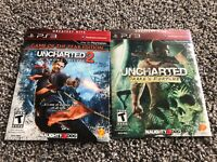 Uncharted 1 & 2 - PlayStation 3 PS3 Bundle Lot Game of the Year Edition