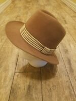 Vintage American Hat Co Maxi-Felt Fawn Tan Lt Brown Wool Western Hat Size 7 1/8