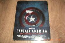 Captain America Trilogie Teil 1-3 Blu-Ray Steelbook Collezione 3 Blu-Ray NEU