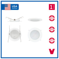 """5"""" 5 INCH Recessed Can Albalite Frosted Lens Bathroom Shower Trim Downlights"""