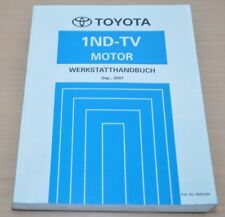 Toyota Yaris Echo Verso 1ND-TV NLP 10 20 22 Motor Turbo Werkstatthandbuch