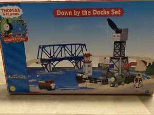 Thomas Train LC 99533 Wooden Railway Down by the Docks Set Retired 2002