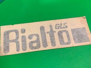 Car reliant decal,black original Rialto sticker GLS,No 29114,classic car part