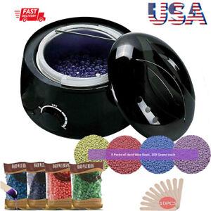 Wax Heater Warmer Hair Removal Depilatory Machine Home Body Waxing Kit w/ Beans