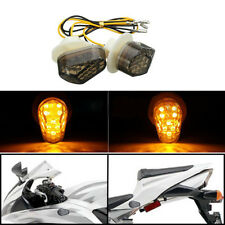 Flush Mount LED Turn Signal Blinker Light For Yamaha FZ6R FZ1 FZ09 R1 R6 R6S YZF