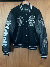 Schott Leather Varsity Motorcycle Jacket L Size 40