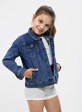 Kids Girls Light Blue Denim Jackets Designer Jeans Jacket Stylish Fashion Coats